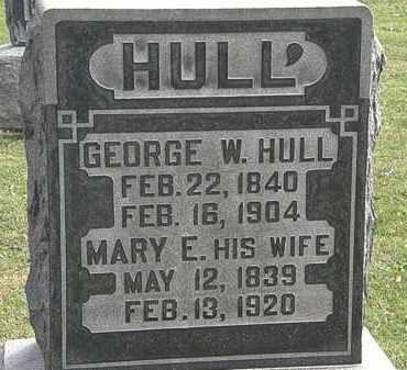 HULL, GEORGE W. - Morrow County, Ohio   GEORGE W. HULL - Ohio Gravestone Photos
