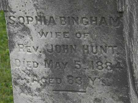 HUNT, SOPHIA - Morrow County, Ohio | SOPHIA HUNT - Ohio Gravestone Photos