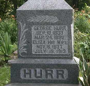 HURR, ELIZA - Morrow County, Ohio | ELIZA HURR - Ohio Gravestone Photos