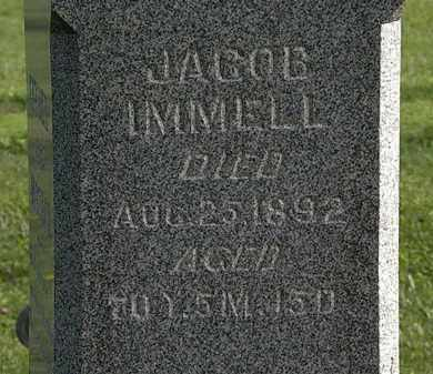 IMMELL, JACOB - Morrow County, Ohio | JACOB IMMELL - Ohio Gravestone Photos