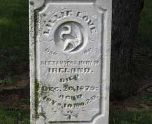 IRELAND, LILLIE LOVE - Morrow County, Ohio | LILLIE LOVE IRELAND - Ohio Gravestone Photos