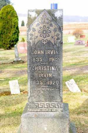 IRVIN, JOHN - Morrow County, Ohio | JOHN IRVIN - Ohio Gravestone Photos
