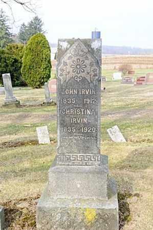 IRVIN, CHRISTINA - Morrow County, Ohio | CHRISTINA IRVIN - Ohio Gravestone Photos