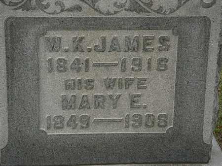 JAMES, W.K. - Morrow County, Ohio | W.K. JAMES - Ohio Gravestone Photos
