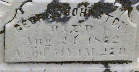 JOHNSTON, GEORGE - Morrow County, Ohio | GEORGE JOHNSTON - Ohio Gravestone Photos