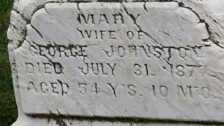 JOHNSTON, MARY - Morrow County, Ohio   MARY JOHNSTON - Ohio Gravestone Photos