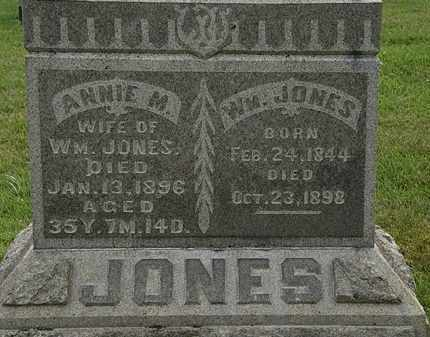 JONES, WM. - Morrow County, Ohio | WM. JONES - Ohio Gravestone Photos