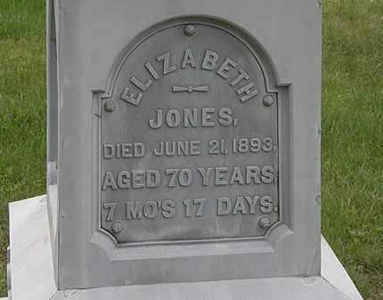 JONES, ELIZABETH - Morrow County, Ohio   ELIZABETH JONES - Ohio Gravestone Photos