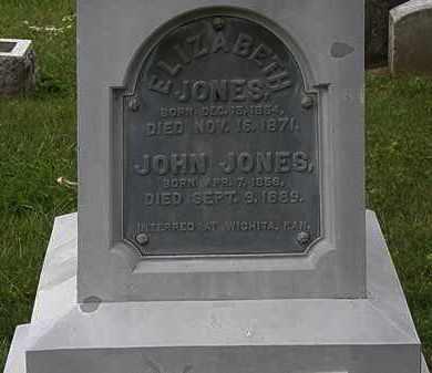 JONES, ELIZABETH - Morrow County, Ohio | ELIZABETH JONES - Ohio Gravestone Photos