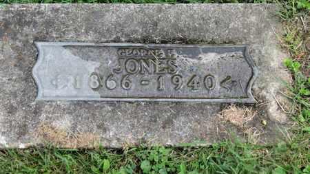 JONES, GEORGE F. - Morrow County, Ohio   GEORGE F. JONES - Ohio Gravestone Photos