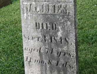 JONES, W. - Morrow County, Ohio | W. JONES - Ohio Gravestone Photos
