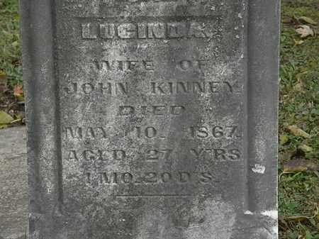 KINNEY, LUCINDA - Morrow County, Ohio | LUCINDA KINNEY - Ohio Gravestone Photos