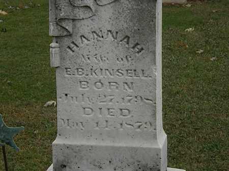 KINSELL, HANAH - Morrow County, Ohio | HANAH KINSELL - Ohio Gravestone Photos