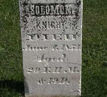 KNIGHT, SOLOMON - Morrow County, Ohio | SOLOMON KNIGHT - Ohio Gravestone Photos