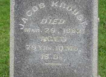 KROUSE, JACOB - Morrow County, Ohio | JACOB KROUSE - Ohio Gravestone Photos
