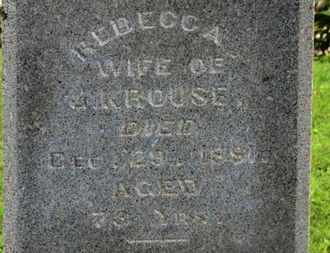 KROUSE, REBECCA - Morrow County, Ohio | REBECCA KROUSE - Ohio Gravestone Photos