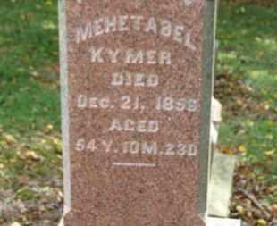 KYMER, MEHETABEL - Morrow County, Ohio | MEHETABEL KYMER - Ohio Gravestone Photos