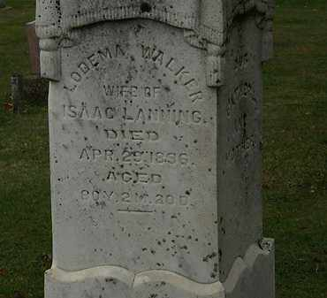LANNING, LODEMA - Morrow County, Ohio   LODEMA LANNING - Ohio Gravestone Photos