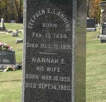 LANNING, HANNAH E. - Morrow County, Ohio | HANNAH E. LANNING - Ohio Gravestone Photos