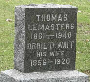 LEMASTERS, THOMAS - Morrow County, Ohio | THOMAS LEMASTERS - Ohio Gravestone Photos