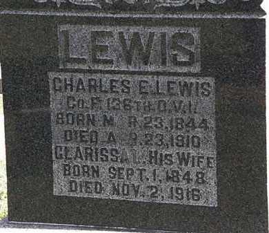 LEWIS, CHARLES E. - Morrow County, Ohio   CHARLES E. LEWIS - Ohio Gravestone Photos