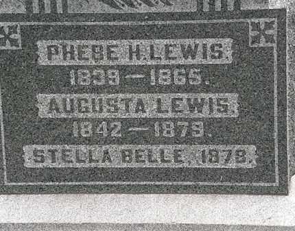LEWIS, AUGUSTA - Morrow County, Ohio | AUGUSTA LEWIS - Ohio Gravestone Photos