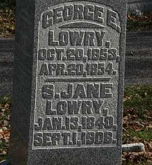 LOWRY, GEORGE E. - Morrow County, Ohio | GEORGE E. LOWRY - Ohio Gravestone Photos