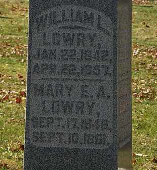 LOWRY, WILLIAM L. - Morrow County, Ohio   WILLIAM L. LOWRY - Ohio Gravestone Photos