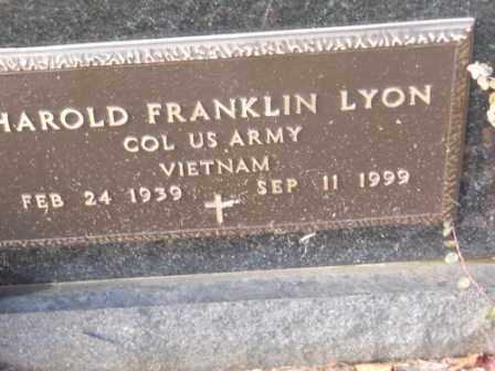 LYON, HAROLD FRANKLIN - Morrow County, Ohio | HAROLD FRANKLIN LYON - Ohio Gravestone Photos