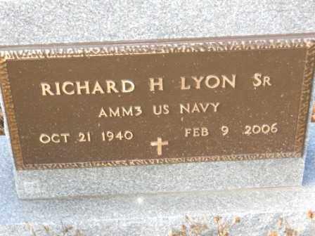 LYON SR, RICHARD H - Morrow County, Ohio | RICHARD H LYON SR - Ohio Gravestone Photos