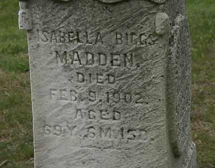 BIGGS MADDEN, ISABELLA - Morrow County, Ohio | ISABELLA BIGGS MADDEN - Ohio Gravestone Photos