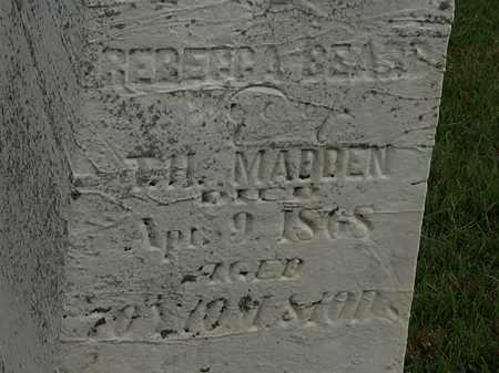 MADDEN, REBECCA - Morrow County, Ohio | REBECCA MADDEN - Ohio Gravestone Photos