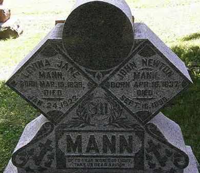 MANN, LEVINA JANE - Morrow County, Ohio | LEVINA JANE MANN - Ohio Gravestone Photos
