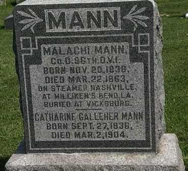 MANN, MALACHI - Morrow County, Ohio | MALACHI MANN - Ohio Gravestone Photos