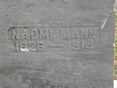 MANN, NAOMI - Morrow County, Ohio   NAOMI MANN - Ohio Gravestone Photos