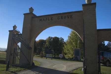 MAPLE GROVE, CEMETERY SIGN - Morrow County, Ohio   CEMETERY SIGN MAPLE GROVE - Ohio Gravestone Photos
