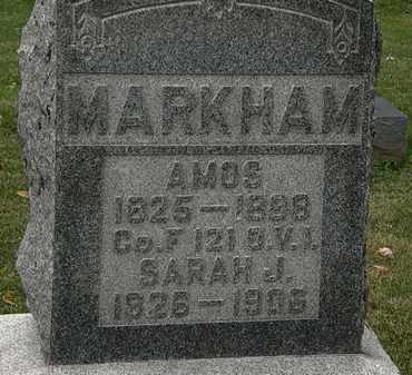 MARKHAM, AMOS - Morrow County, Ohio | AMOS MARKHAM - Ohio Gravestone Photos