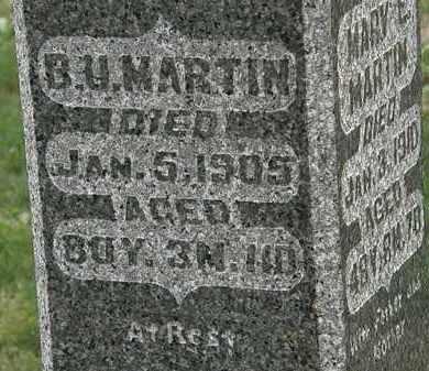 MARTIN, B.U. - Morrow County, Ohio | B.U. MARTIN - Ohio Gravestone Photos