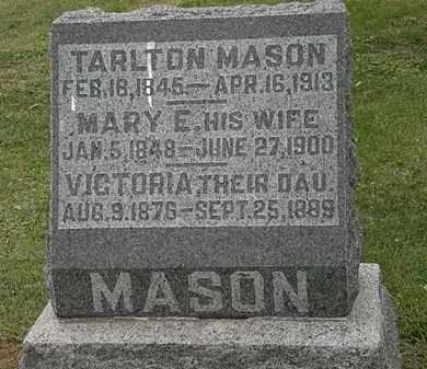 MASON, VICTORIA - Morrow County, Ohio | VICTORIA MASON - Ohio Gravestone Photos