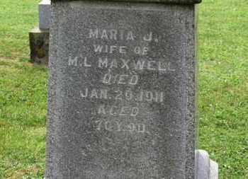 MAXWELL, MARIA J. - Morrow County, Ohio   MARIA J. MAXWELL - Ohio Gravestone Photos