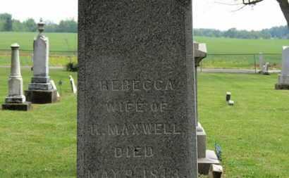 MAXWELL, REBECCA - Morrow County, Ohio | REBECCA MAXWELL - Ohio Gravestone Photos