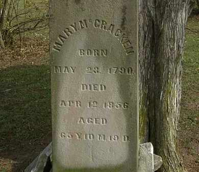 MCCRACKEN, MARY - Morrow County, Ohio | MARY MCCRACKEN - Ohio Gravestone Photos