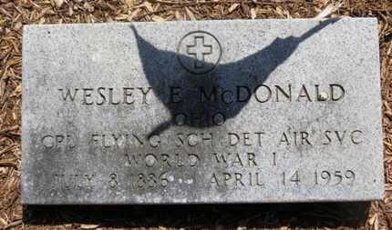 MCDONALD, WESLEY E. - Morrow County, Ohio | WESLEY E. MCDONALD - Ohio Gravestone Photos