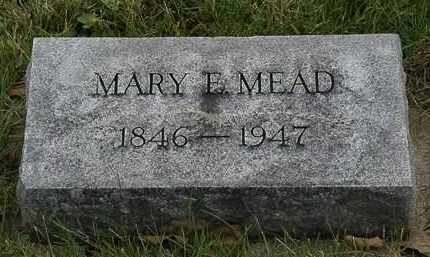 MEAD, MARY E. - Morrow County, Ohio | MARY E. MEAD - Ohio Gravestone Photos
