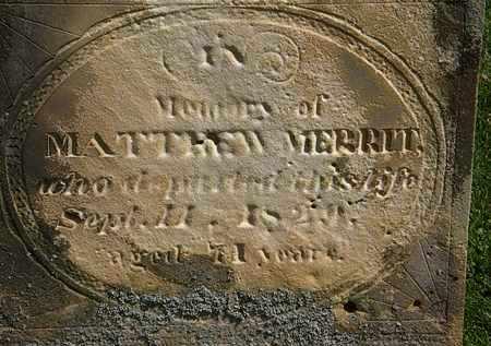 MERRIT, MATHEW - Morrow County, Ohio | MATHEW MERRIT - Ohio Gravestone Photos