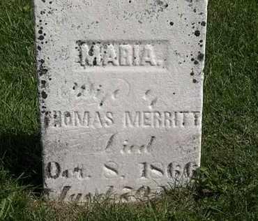 MERRITT, MARIA - Morrow County, Ohio | MARIA MERRITT - Ohio Gravestone Photos