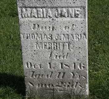 MERRITT, MARIA JANE - Morrow County, Ohio | MARIA JANE MERRITT - Ohio Gravestone Photos