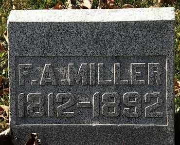 MILLER, F.A. - Morrow County, Ohio | F.A. MILLER - Ohio Gravestone Photos