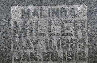 MILLER, MALINDA - Morrow County, Ohio | MALINDA MILLER - Ohio Gravestone Photos