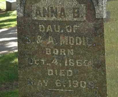MODIE, ANNA B. - Morrow County, Ohio | ANNA B. MODIE - Ohio Gravestone Photos